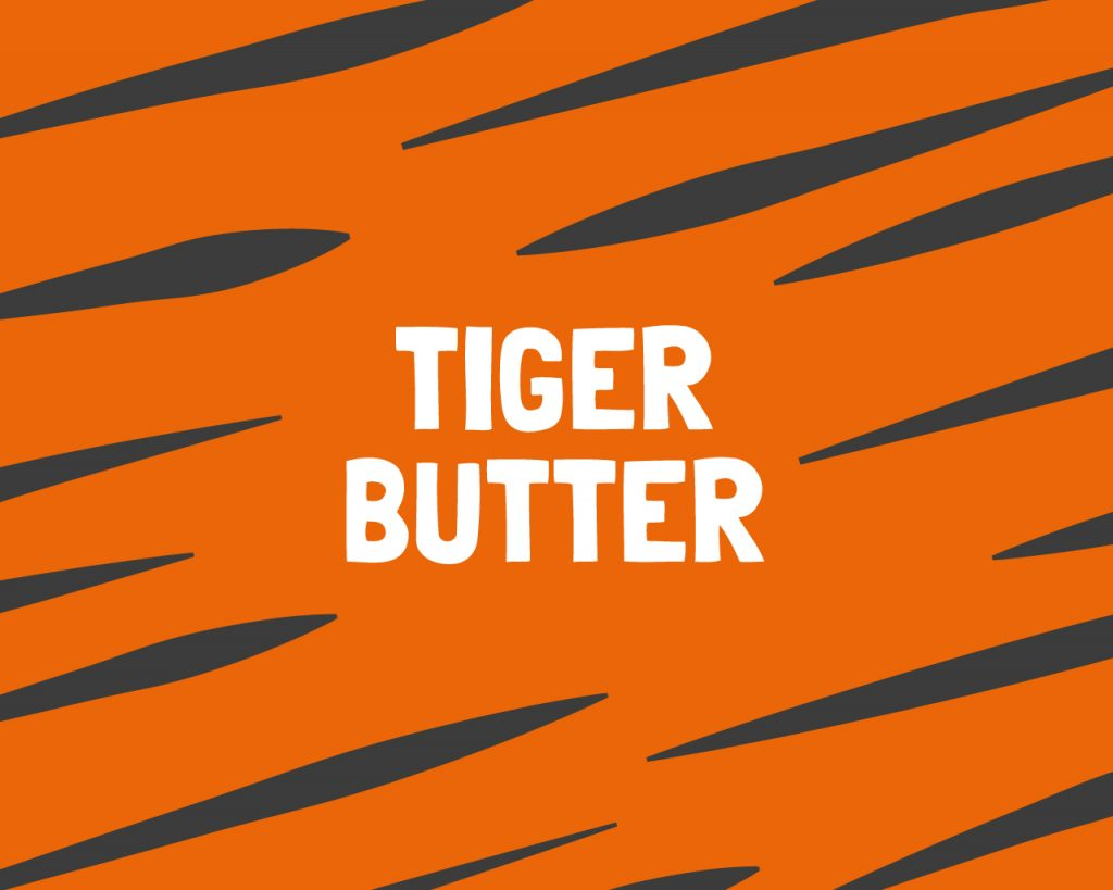 Slab Artisan Fudge - Tiger Butter Flavour Graphic